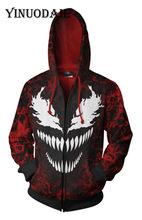 cf07c8dd62 Fans portent rouge Marvel Venom 3D Hoodies pour femmes et hommes à manches  longues jeu Cosplay vêtements 2018 Sweat Homme