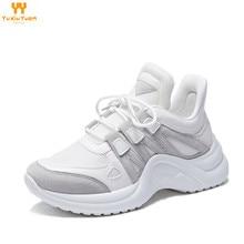 2019 г.; дышащие кроссовки; обувь для бега; женская спортивная обувь; Fandei; Бесплатная доставка; zapatillas hombre Mujer для девочек