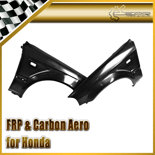 Car Accessories For Honda 99 00 EK Civic Hatch Back FRP Fiber Glass Js Racing Front Fender 20mm Fiberglass Wheel Flare Body Kit