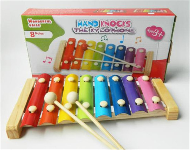 Nuevo juguete de madera de percusión Orff, 8 xilófono, juguetes educativos para la primera infancia Envío Libre