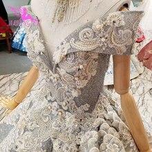 AIJINGYU فساتين زفاف جاهزة فساتين الزفاف الزفاف أحدث رمادي التركية تألق ثوب 2021 2020 فاخر جديد فستان الزفاف