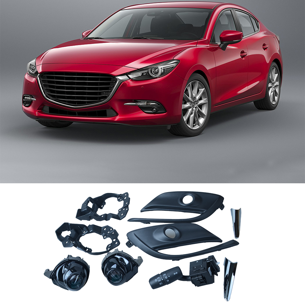 OEM LED Fog Lights Lamp Kit For Mazda 3 Mazda3 With Auto