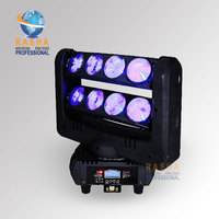 Hot Sale 8pcs 10W White Color LED Moving Head Spider Light With Double Layer Stage Light