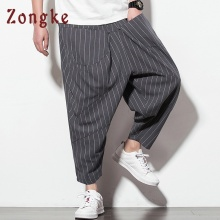 Zongke, длина по щиколотку, уличная одежда, мужские штаны для бега, хип-хоп брюки, мужские штаны для бега, спортивные штаны, шаровары, Мужские штаны, весна