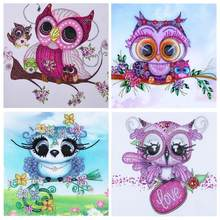 New product special offer diamond painting owl DIY 5D full diamond cross stitch set crystal rhinestone artwork **D(China)