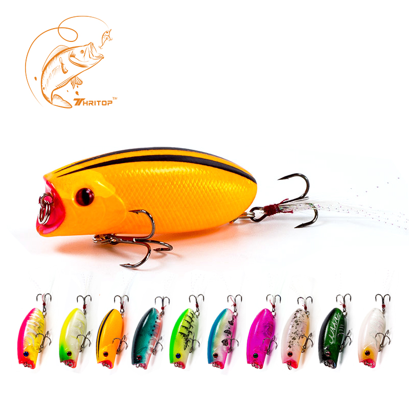 Thritop New Lifelike Crank Baits 55mm 10.4g TP004 10 forskjellige farger for å velge Crank Fishing Lure Professional Fishing Tool