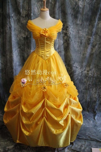 Beauty And The Beast Christmas Dress Belle Cosplay Princess For Girl Dancing Costumes
