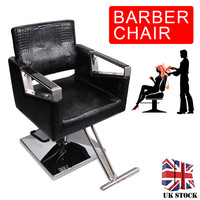 Shellhard Salon Barber Chair Comfy Hydraulic Salon Barber Hairdressing Chair Styling Beauty Facilities Black Home Furniture