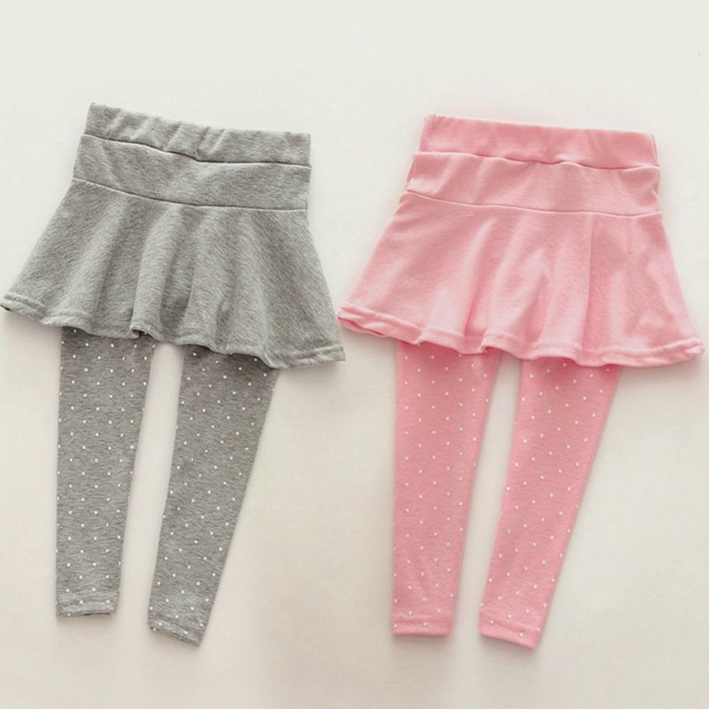 1-7 Jahre Kleinkind Mädchen Baumwolle Culottes Übertragen Pantskirt Kinder Kind Frühling Herbst Leggings Hosen