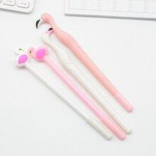 60 pièces/ensemble stylo gel flamants roses lapices Kawai canetas créativité stationnaire boligrafo kalem école outils matériel escolar