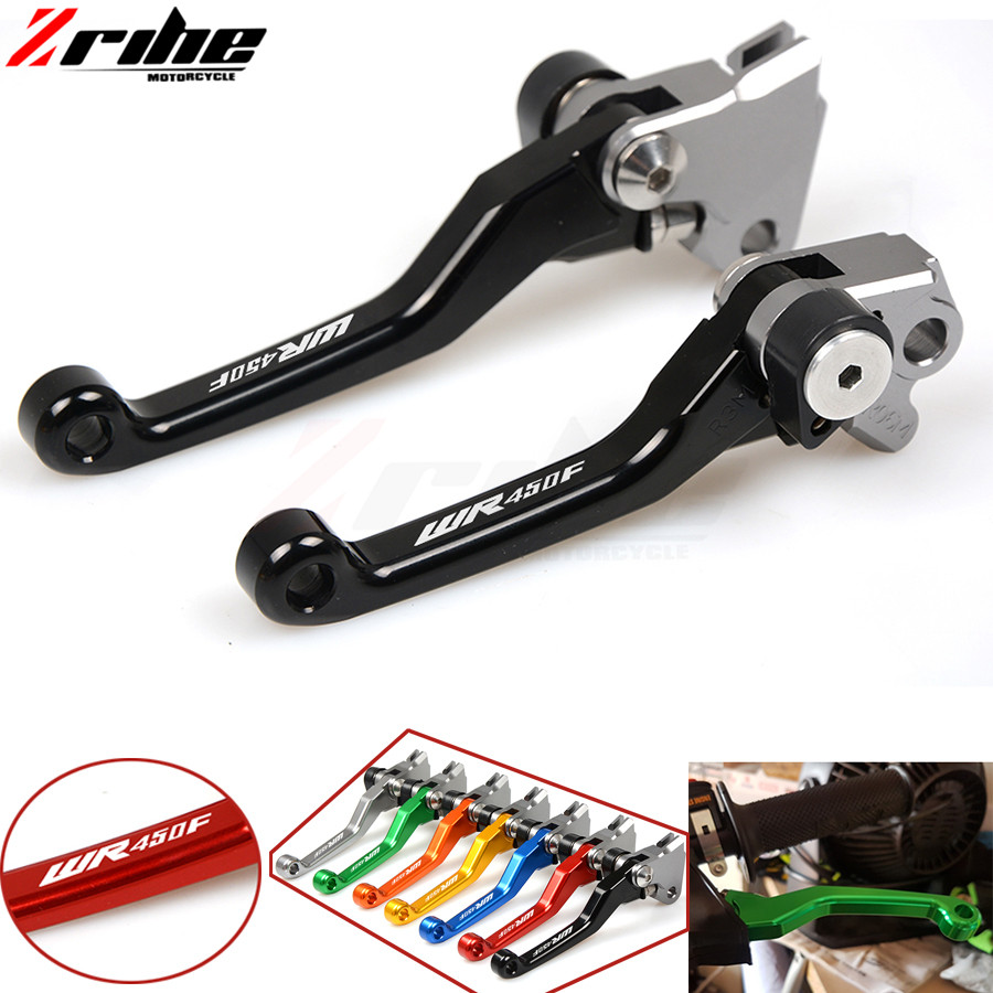Motorcycle Accessories For Yamaha WR 250F WR250F 2003 2004 2005 2006 -2018 Motocross dirt bike CNC Pivot Brake Clutch Levers for honda crf 250r 450r 2004 2006 crf 250x 450x 2004 2015 red motorcycle dirt bike off road cnc pivot brake clutch lever