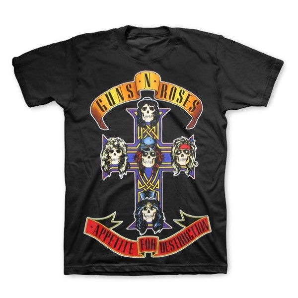 GUNS N ROSES Appetite For Destruction Logo Jumbo Print T-Shirt Authentic S-2XL
