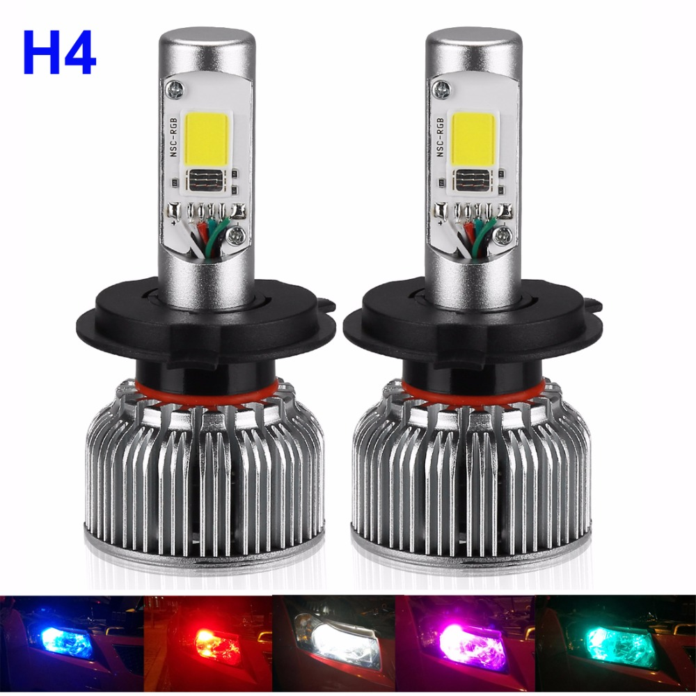 Suparee Auto Rgb Led Headlight H4 Bulb 12v 80w Smartphone