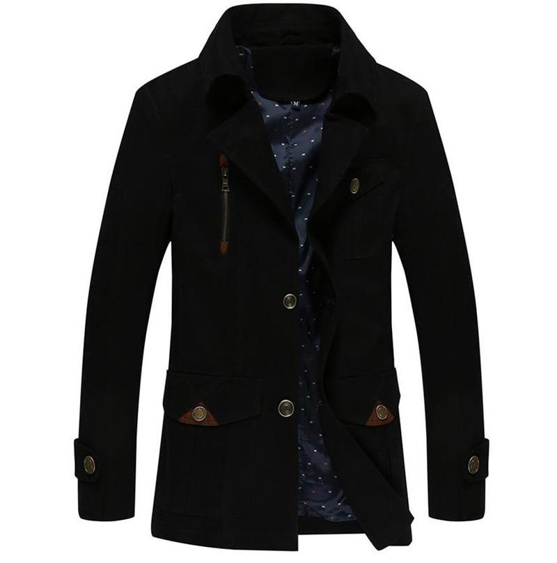 2017 M Solide Qualité De khaki Hommes Armygreen Haute Mince Casual Vêtements Coupe Mode Veste Chaude black Couleur 4xl vent Manteau rZxqnPC5wr