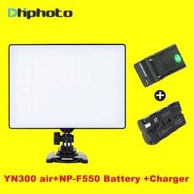 YONGNUO YN-300 YN300 Air Камера светодиодный свет Панель на Камера 3200 К-5500 К с Батарея Зарядное устройство для canon Nikon Транслируй