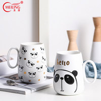 Personalized Matt Ceramic Mug 16oz Present for Kids Boss Panda Lover Large Kitchen Drinkware Cup For Breakfast Coffee Milk Latte