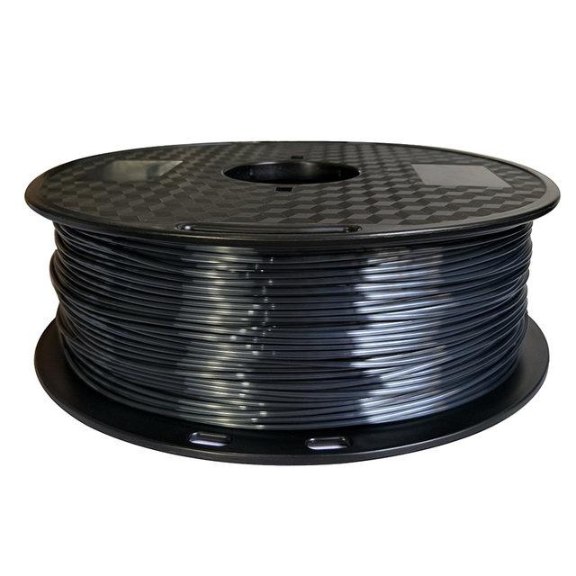 Soie pla noir 1.75mm 1kg PLA soyeux riche lustre 3d imprimante filament brillant violet rouge cuivre soie sentiment comme les matériaux dimpression