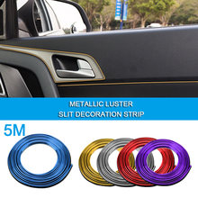 5 M Auto Styling Exterieur Decoratie Strip Mouldings Trim Dashboard Deur Rand Autodeur Protector Auto-accessoires Auto-onderdelen(China)