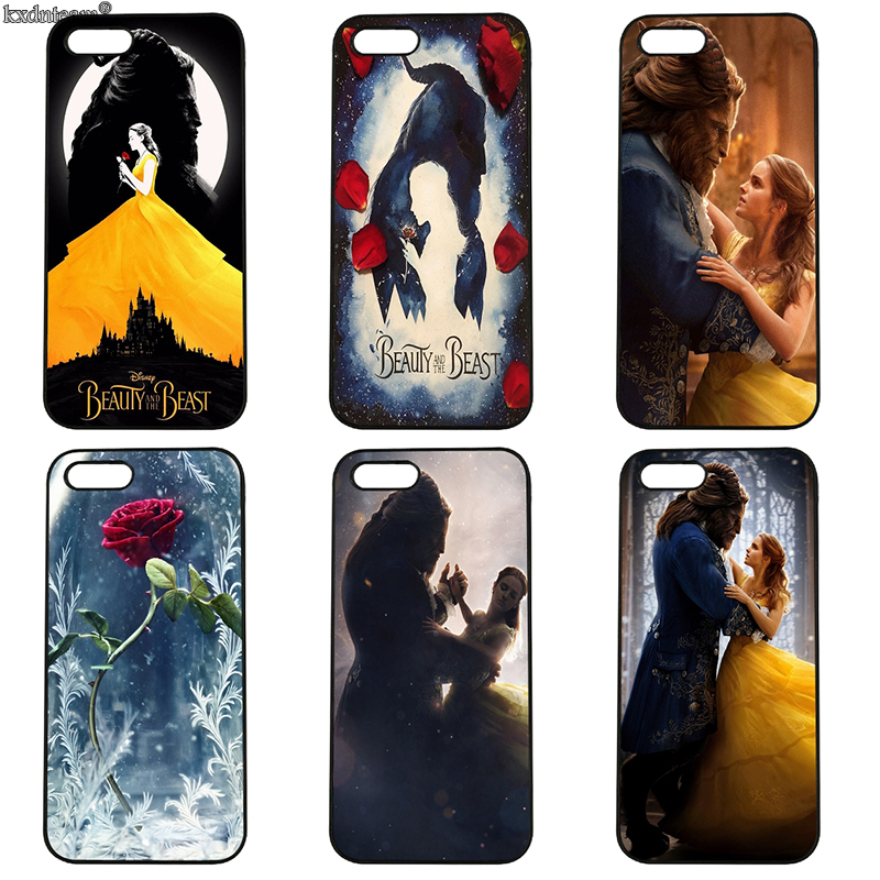Beauty And The Beast Mobile Phone Case Hard PC Cover Fitted for iphone 8 7 6 6S Plus X 5S 5C 5 SE 4 4S iPod Touch 4 5 6 Shell