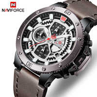 NAVIFORCE Watch Men Fashion Sport Quartz Clock Mens Watches Top Brand Luxury Leather Military Waterproof Watch Relogio Masculino