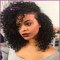 7A Kinky Curly Full Lace Perucas de Cabelo Humano Para As Mulheres Negras cabelo virgem brasileiro Curto Bob Peruca Dianteira Do Laço Sem Cola Cabelo Humano perucas
