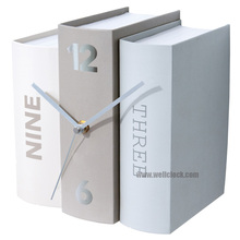 Book Table Clocks Three Options Desk Paper Clocks In Book Design