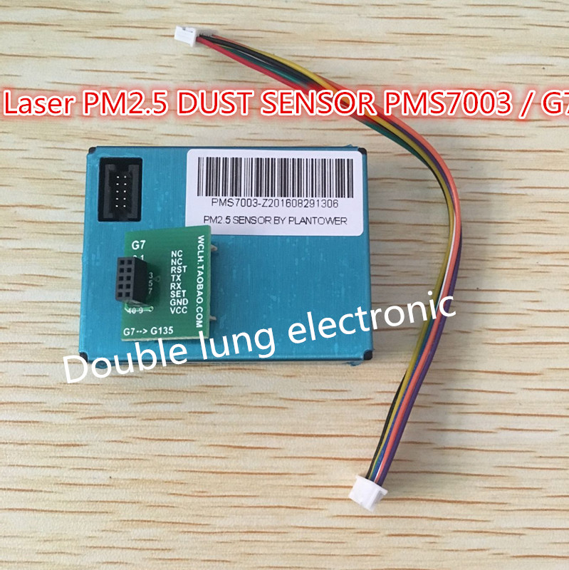 PLANTOWER Laser PM2.5 DUST SENSOR PMS7003 / G7 Thin shape Laser digital PM2.5 sensor (Inculd transfer board + cable)