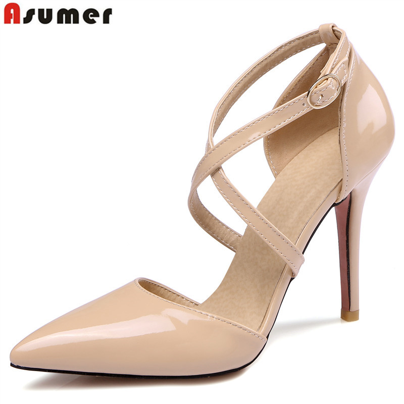 ASUMER Large size 34-47 New 2019 fashion sexy high heels lad