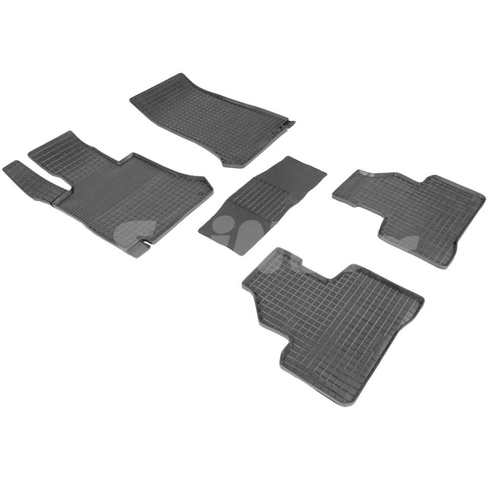 Rubber grid floor mats for Mercedes-Benz GLC-class X253 2015-2018 Seintex 86945 silver black car styling accessories for mercedes benz amg gla glc gle gls gt a c e g s class 3d logo emblem badge car sticker