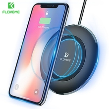 FLOVEME Qi 5W Wireless Charger For iPhone 8 Plus X Samsung S7 S8 Intelligent Quickly Charging Nokia LG Round
