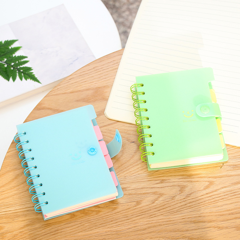 13x10cm 21x15cm smile cute small notebook kawaii candy color with paper bookmark memo pad sticker writing pad school stationery 2018 pet transparent sticky notes and memo pad self adhesiv memo pad colored post sticker papelaria office school supplies