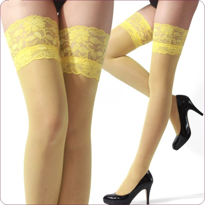 YRRETY Women Sexy Utumn Winter New Fashion High Quality Candy Color Stockings Candy Color Cute Pantyhose Tights Lace Stockings