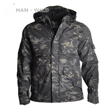 Winter Mens Military Camouflage Softshell Jacket Army Tactical Clothing Multicam Male Windbreakers Coat