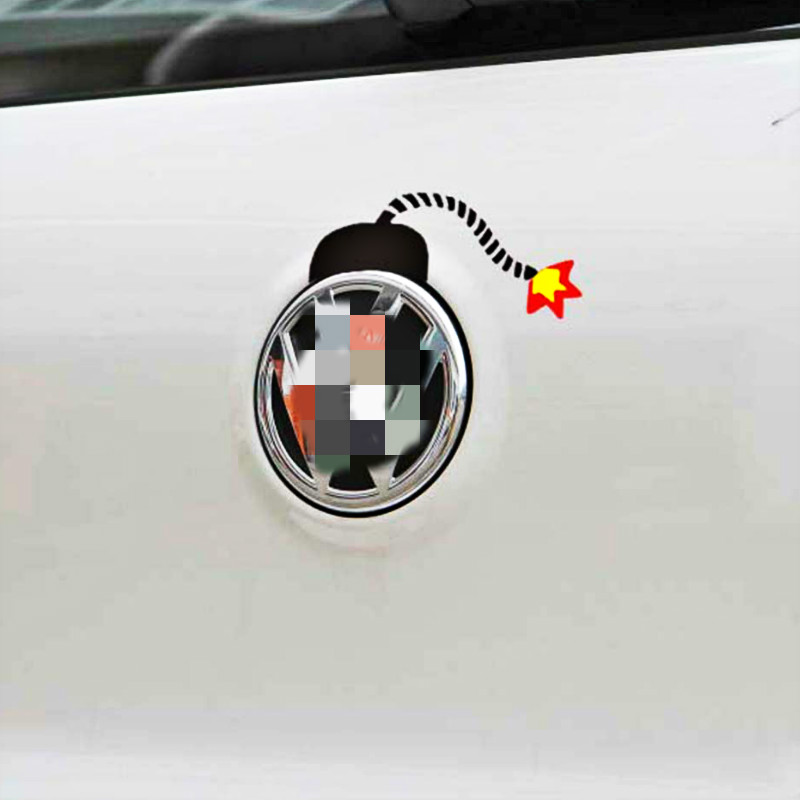 Aliauto Newest Design Bomb Car Stickers Funny Design Decal <font><b>Accessories</b></font> <font><b>for</b></font> Volkswagen <font><b>VW</b></font> <font><b>Golf</b></font> <font><b>GTI</b></font> Touareg Tiguan Jetta Sagitar image