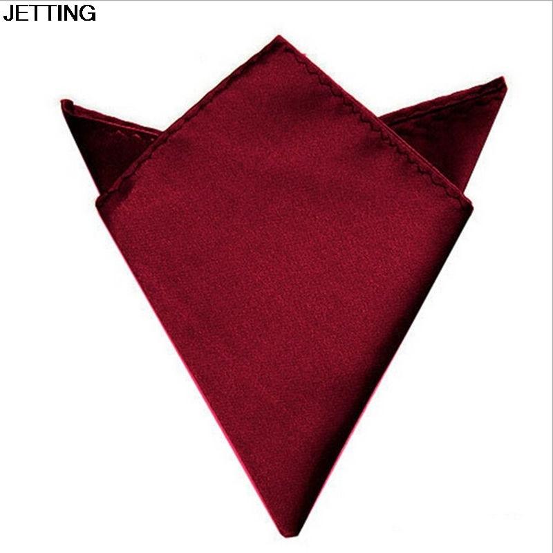 6 Colors Wedding Bridegroom Suit Pocket Cravat 22x22cm Square Pocket Handkerchief Men Cravat Ties