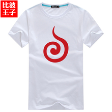 men boys Clothes cartoon Naruto logo Japanese short sleeve round neck T shirt cool boss 6XL 5XL plus size boys gift discount new