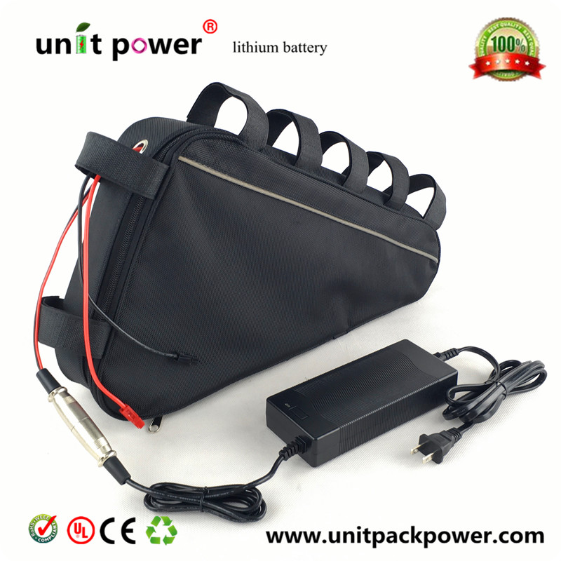 Free customs duty  New arriver triangle battery pack lithium battery 48v 20ah electric bike battery 3 6v 2400mah lithium battery pack for psp slim 2000