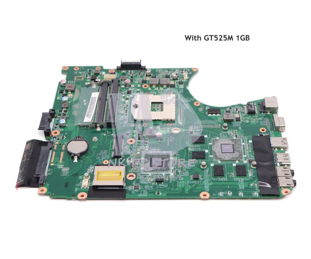 NOKOTION DABLBDMB8E0 A000080820 MAIN BOARD For Toshiba Satellite L750 L755 Laptop Motherboard HM65 DDR3 GT525M 1GB