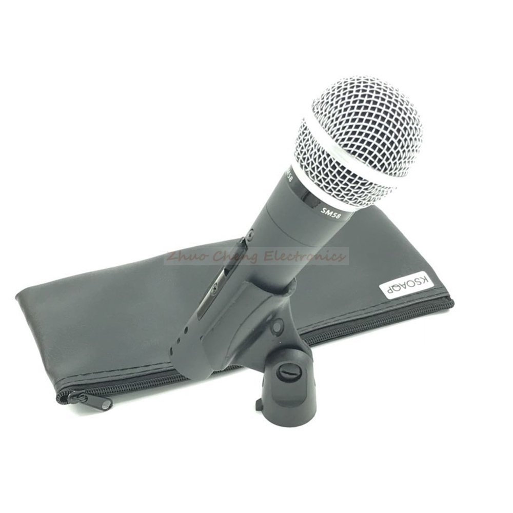 ksoaqp sm58 switch handheld vocal dynamic wired microphone professional mic for video recording. Black Bedroom Furniture Sets. Home Design Ideas