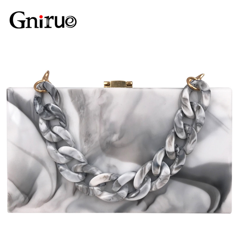 Art Ink Painting Acrylic Clutch Bags Women's Evening Bags