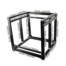 BLV mgn Cube 3d принтер алюминиевая Экструзионная рама полный комплект гайки винтовой кронштейн угловой для DIY CR10 Z высота 365 мм