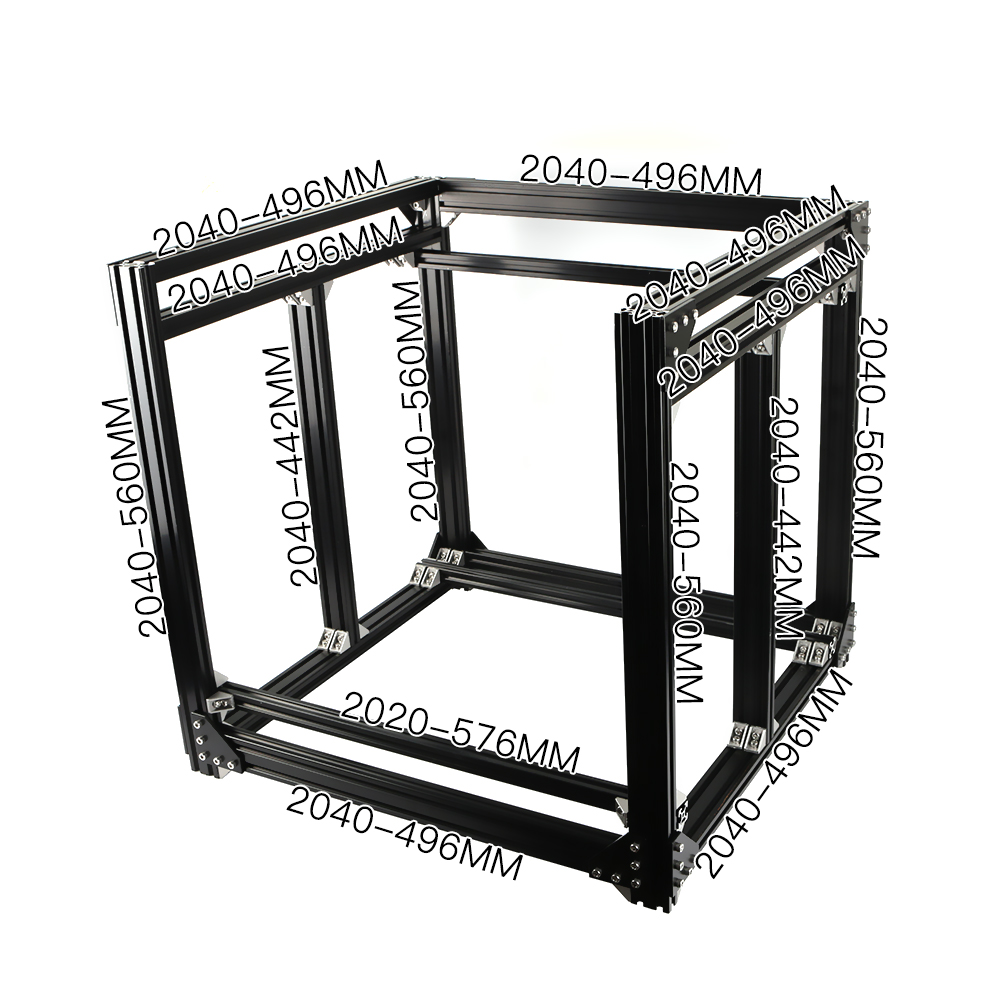 Cadre d'extrusion en aluminium pour imprimante BLV mgn Cube 3D Kit complet écrous support à vis coin pour bricolage CR10 Z hauteur 365mm