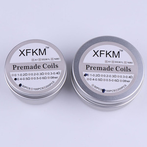 Image 3 - XFKM 50/100 pcs Flat twisted  Fused Hive clapton coils premade wrap wires Alien Mix twisted Quad Tiger Heating Resistance rda