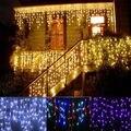 Decoração 3.5 M 300 leds Luz Casamento icicle Lâmpada Guirlanda de Natal Fada Luz LED String Festa de Aniversário Jardim Decoração Cortina