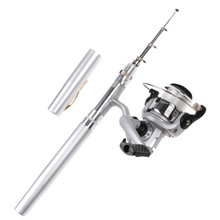 1m Portable Fishing Rod Combo Set Pen mini fishing rod set for river lake sea fishing 1set=rod pen+spinning reel