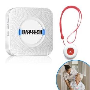 Image 1 - DAYTECH Caregiver Cercapersone Senza Fili Assistenza Domiciliare Alert Sistema di Chiamata di Chiamata SOS Bottoni Per Anziani Paziente Incinta Disabili (CC01 01A)