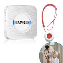Daytech cuidador pager sem fio, sistema de alerta de chamada, botões de chamada sos para idosos, paciente grávida, desbloqueado (CC01 01A)