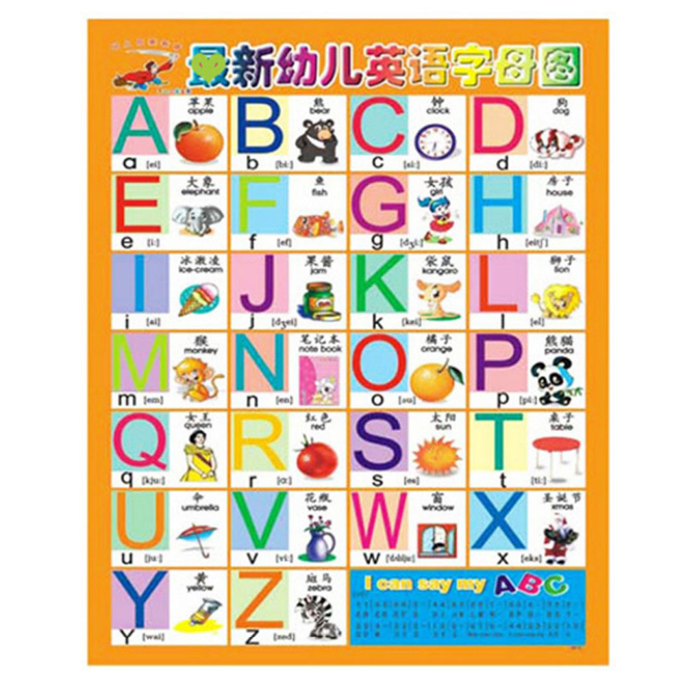 Number Alphabet Chart Kids Early Educational Toys Kid Phonetic Poster Birds  Insects Color Shape Language Learning Toys-In Learning Machines From Toys