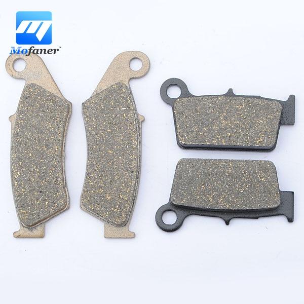 1 Set Front Rear Brake Pads FOR HONDA CR125R CR250R CR500R CR 125 250 500 R 1995-2001 motorcycle front and rear brake pads for honda cr125r cr250r cr500r cr 125 250 500 r 1987 2001