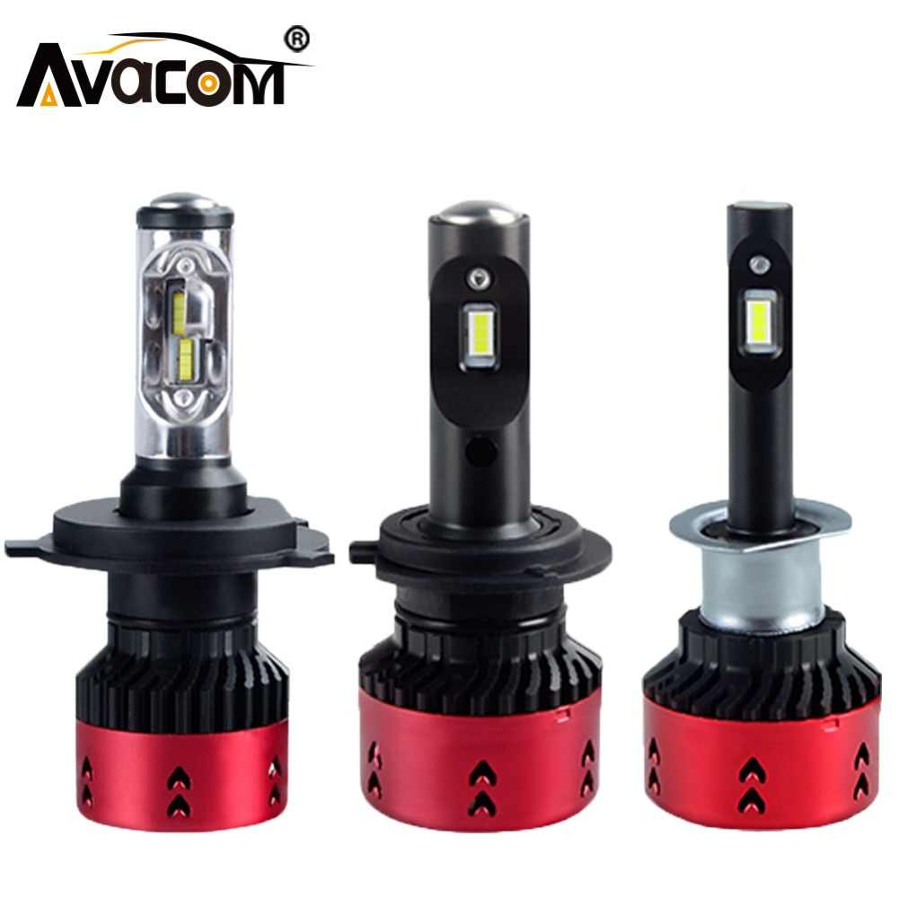Avacom LED H1 H3 H4 H7 LED H15 Turbo Mobil Headlight Lampu Enam Flange Chip 6500 K Putih 16000Lm LED H13 HB3 HB4 H8 Hir2 Auto Headlamp DRL